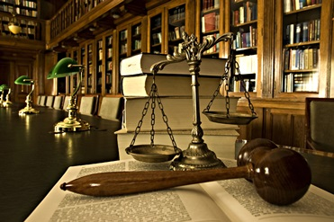Scales, Gavel and Law Books